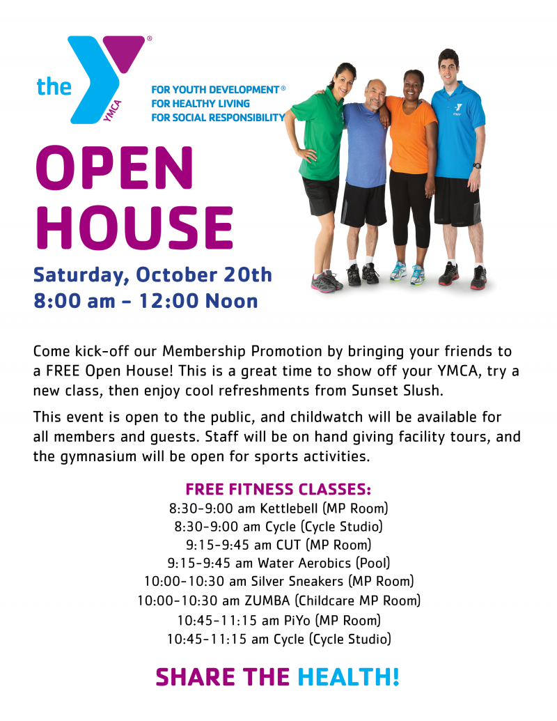 FREE Open House-GRUBB - YMCA of High Point